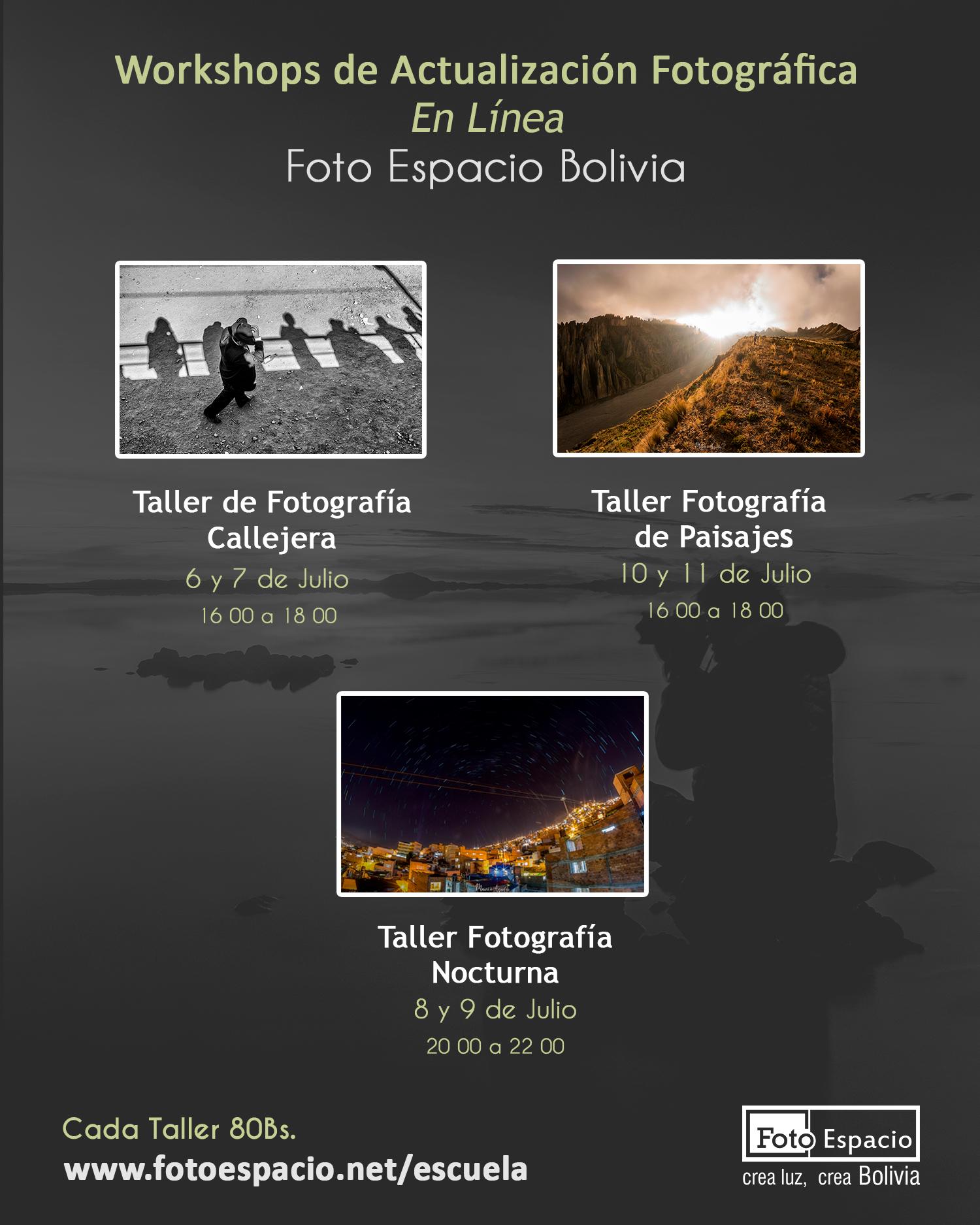 Workshops de actualización Fotográfica - En LíneaNo
